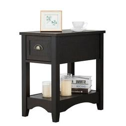 Contemporary Chair Side End Table Compact Table w/ Drawer  N