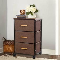Lifewit Rolling Storage Cart Side Table with 3 Dacron Drawer