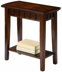 Dentil Cherry Finish Chair-side Table By Crown Mark Furnitur