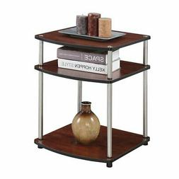 Convenience Concepts Designs2Go No Tools End Table in Cherry