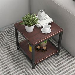"Dland Side End Table 15.7"", Composite Wood Board, Nightstand"