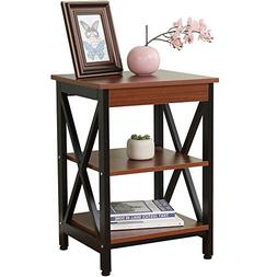"Dland Side End Table 17.3"", Composite Wood Board, Nightstand"