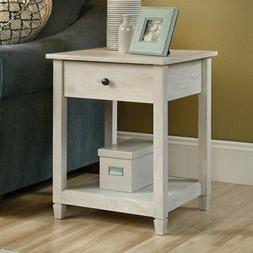 Sauder Edge Water Side Table with Drawer