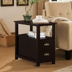 EntryWay/Chair Side Table Narrow End Table with 2 Drawers Li