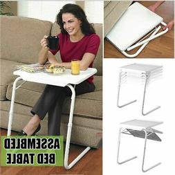 Foldable Bed Sofa Table Adjustable Tray Laptop Desk Dinner P