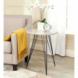 Safavieh FOX4207C Wolcott Lacquer Side Table Taupe And Black