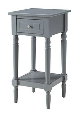 Convenience Concepts French Country Khloe Accent Table, Gray