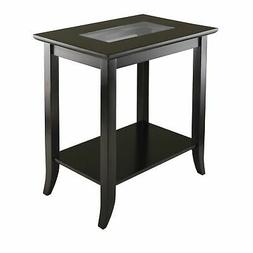 Genoa Rectangular End Table with Glass Top