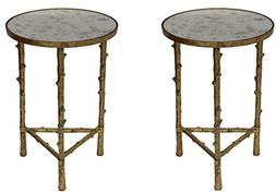 Set of 2 Glostrup Round Metal Side Table