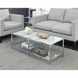 Convenience Concepts Gold Coast Carrara Coffee Table