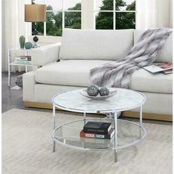 gold coast carrara round coffee table