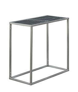 Convenience Concepts Gold Coast Faux Marble Chairside Table,