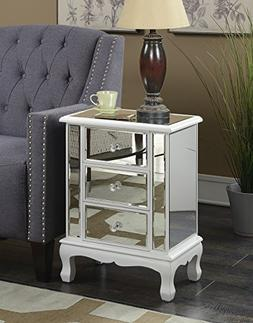Convenience Concepts Gold Coast Vineyard 3 Drawer Mirrored E