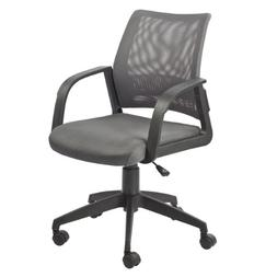 Leick Gray Mesh Back Office Chair