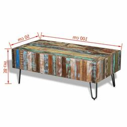 Handmade Coffee Drink Table Solid Reclaimed Wood Polished Si