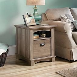 Sauder Harbor View Side Table B - Salt Oak Finish