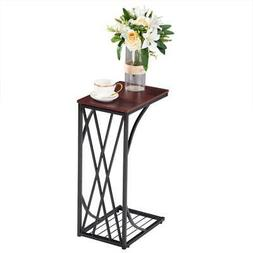 High Quality C-Shaped Side Sofa End Table - Snack TV Tray fo