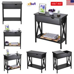 Home Art 2 Drawer Desk Console Sofa Side Table Coffee Table