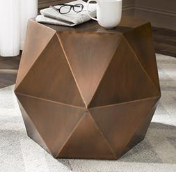 Safavieh Home Collection Astrid Geometric Copper Faceted Sid