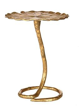 Safavieh Home Collection Justina Gold Foil Side Table