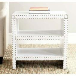 Safavieh Home Collection Lacey White Croc Side Table