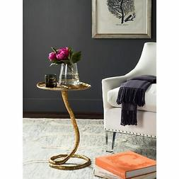 Safavieh Home Collection Mina Gold Foil Petal Side Table