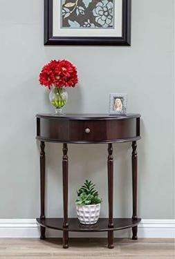 Home Craft End Table/Side Table, Espresso Finish