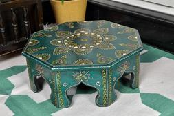 Home Decor Wooden Pooja Chowki Bajot Side Table Kitchen Anti