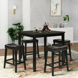 Home Kitchen Dining Table Black Square Living Room Eating Ta