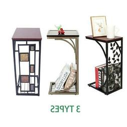 Hot Style C-Shape Side Table Coffee Snack for Living Room En