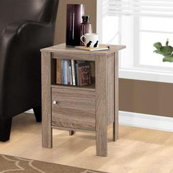 Monarch Specialties I 2136 Accent Table-Dark Taupe Night Sta