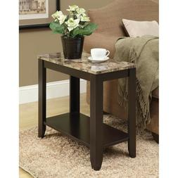 Monarch Specialties I 3114, Accent Side Table, Marble-Look T