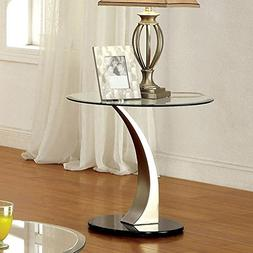 247SHOPATHOME IDF-4727E End-Tables, Chrome