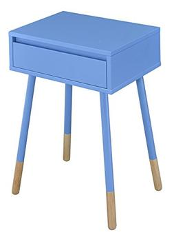 247SHOPATHOME IDF-AC176BL Fernadad Side Table, Blue