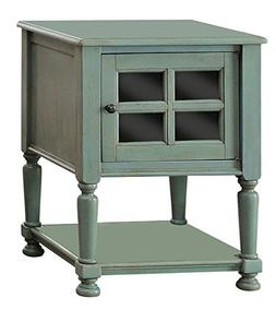 247SHOPATHOME IDF-AC163TL Arson Side Table, Teal