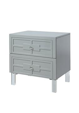 247SHOPATHOME IDF-AC513GY Abegail End-Table, Gray