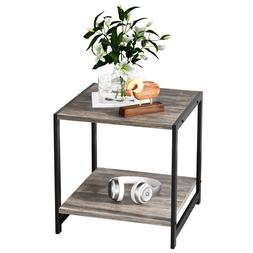 industrial end tables with storage shelf industrial