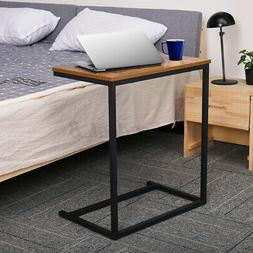 KingSo Wood Sofa Side C Table Laptop End Tables Living Room