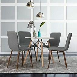 Kitchen Home Dining Table Round Coffee Table Modern White Wo