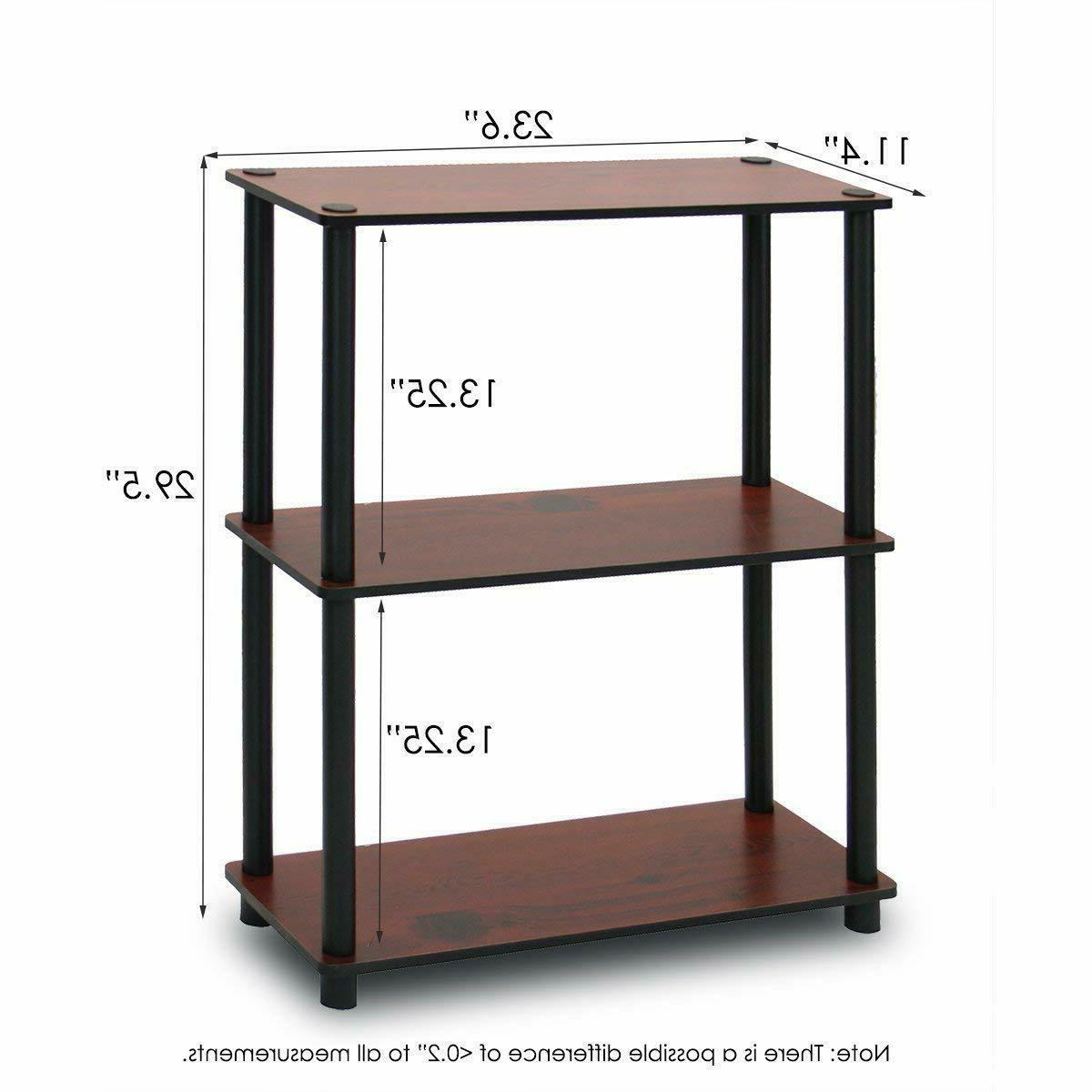 Furinno 10024DC/BK Compact Multipurpose Shelf Rack