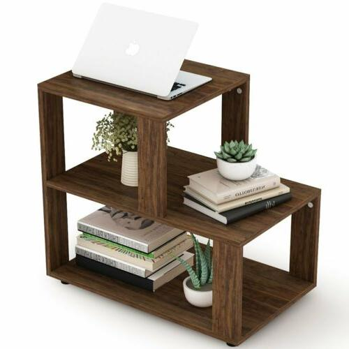 3-Tier End Side Night Stand with Shelf Room or