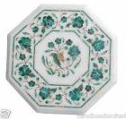 "18""x18"" Marble Side Coffee Table Top Malachite Marquetry Kit"