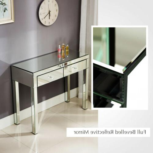 2 Vanity Make-Up Console Table Side