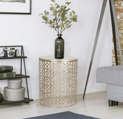 2 Gold Accent Coffee Side Table Indoor