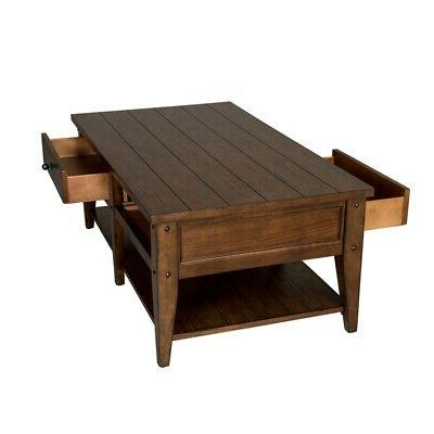 2 Piece Coffee Table and Side Set