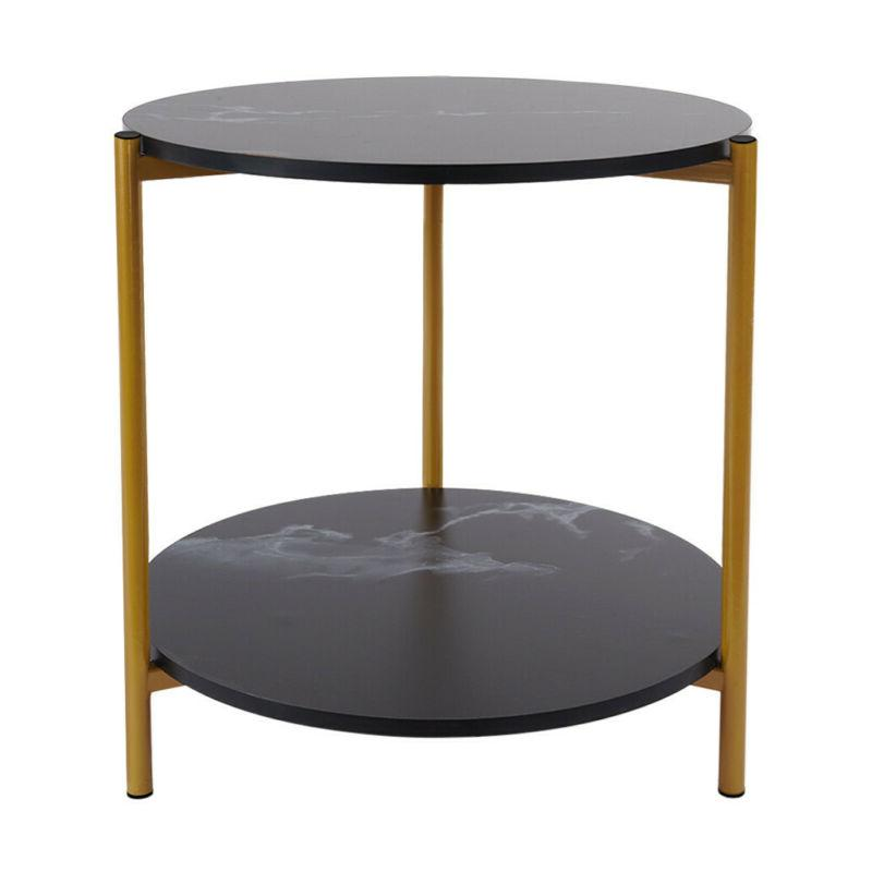 2 Tier Side Table Square/Round Storage Room
