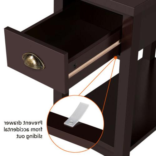 Small End Side Storage Wood Room Furniture Stand