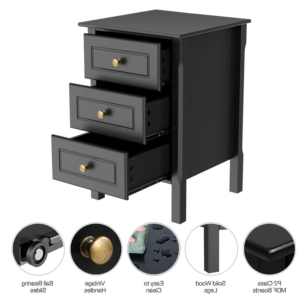 Nightstand Accent Bedside Living Room