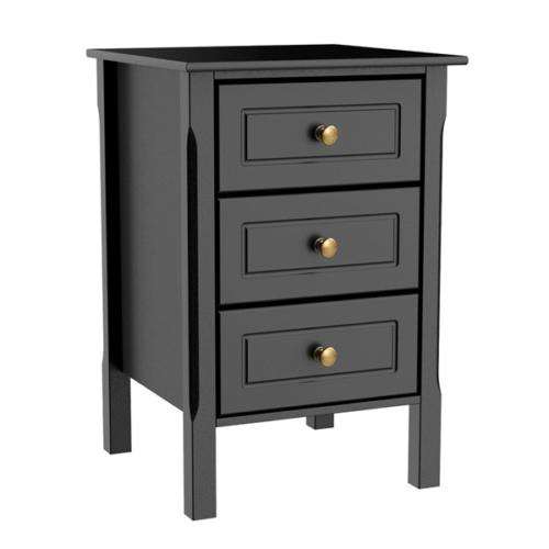 3 drawers nightstand end table bedroom storage