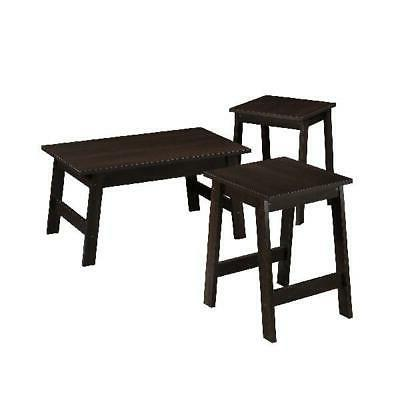 3-Piece Coffee End Side Cocktail Living NEW